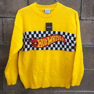 Forever 21 Hot Wheels Cars Sweater Knit Sz M NEW